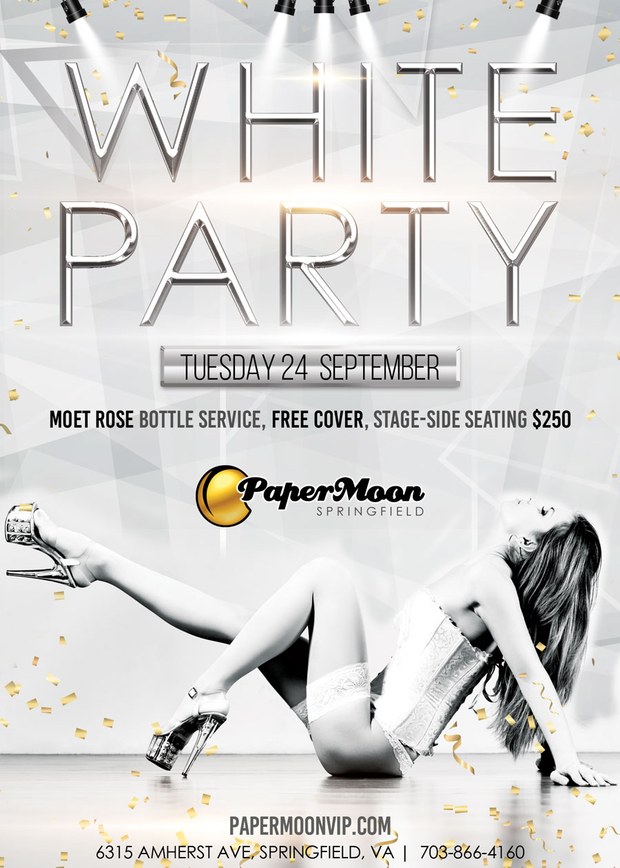 White Party at PaperMoon Gentlemen's Club Springfield Virginia