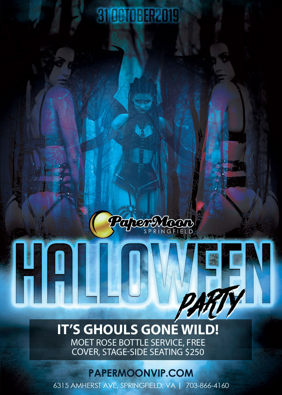 Halloween Party at PaperMoon Gentlemen's Club in Springfield VA