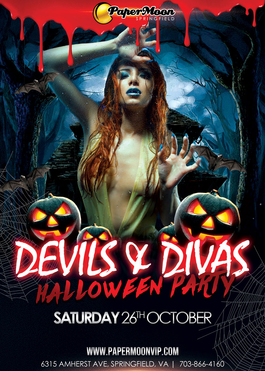 Devils and Divas Halloween Party at PaperMoon Gentlemen's Club in Springfield Virginia