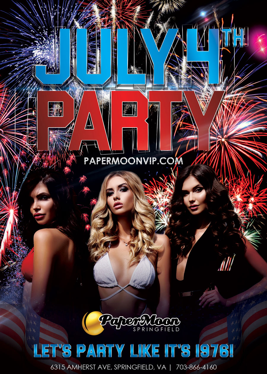 July 4th Celebration at PaperMoon Gentlemen's Club
