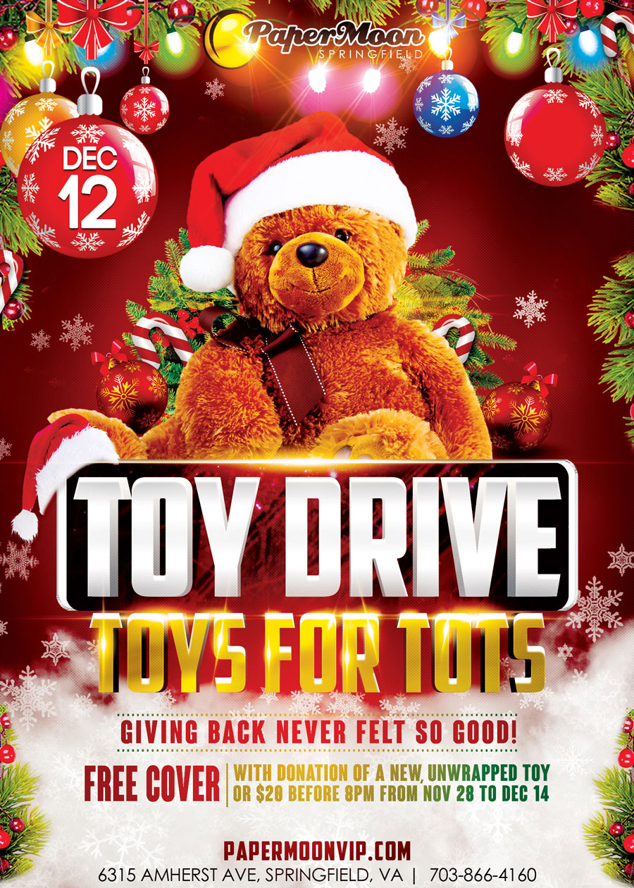 Toys For Tots Party at PaperMoon Gentlemen's Club, Springfield Virginia