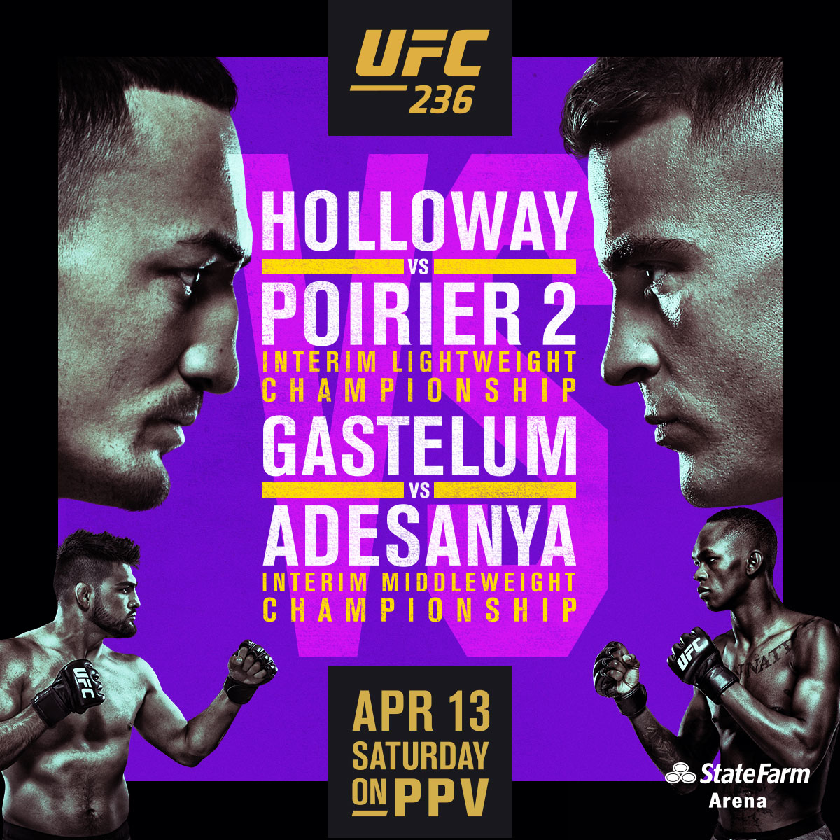 UFC 236 Holloway vs Poirier
