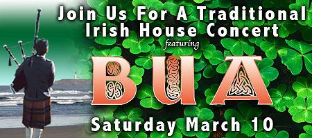 Irish House Concert featuring BUA