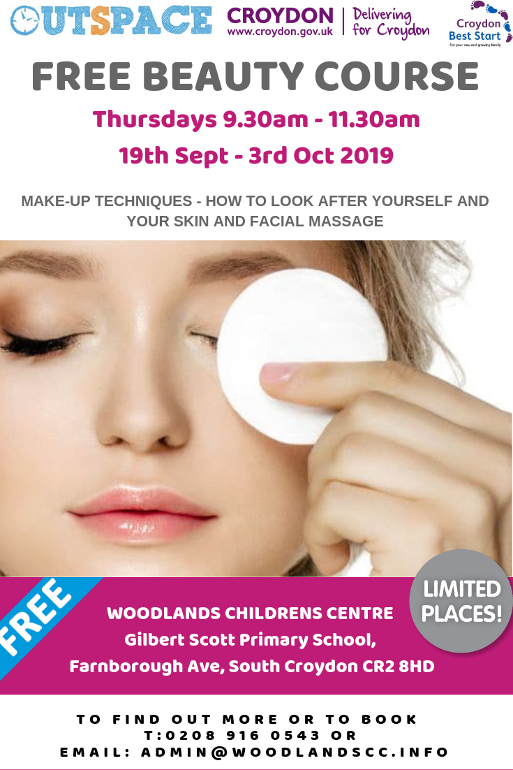 Free Beauty Course for Croydon Parents with children under