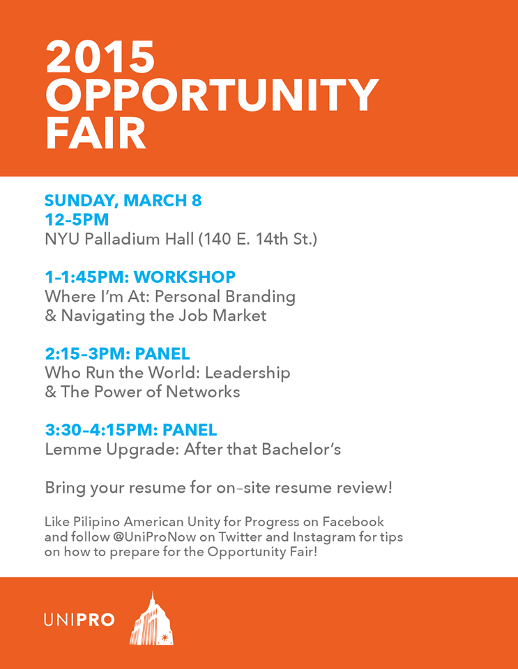 UniPro Opportunity Fair 2015