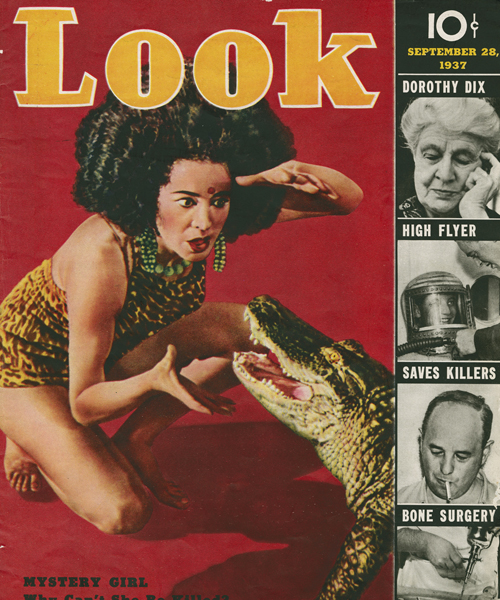 Koringa Yogini on the cover of Look magazine