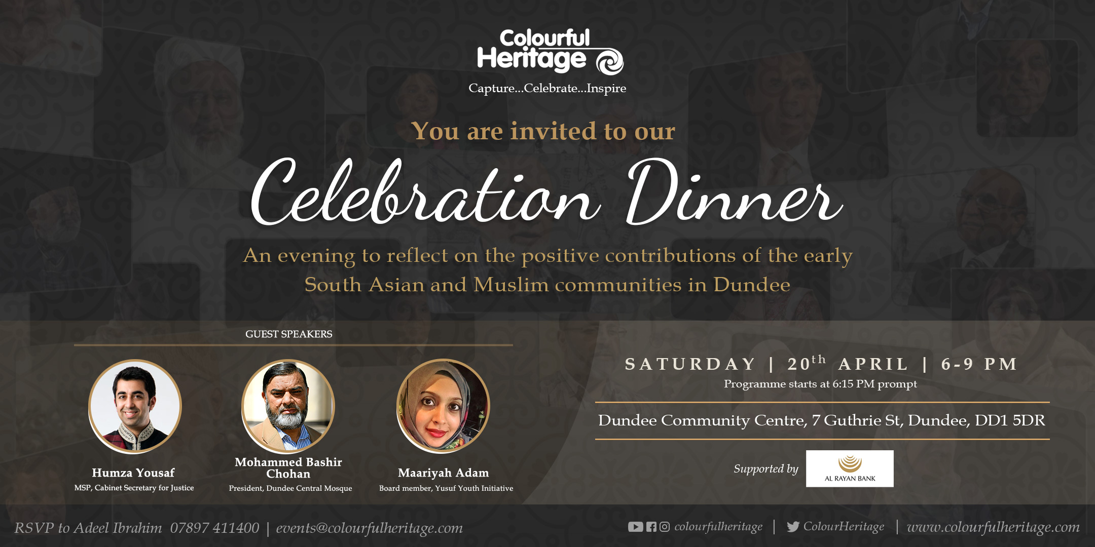 Dundee Dinner Celebration invitation Card