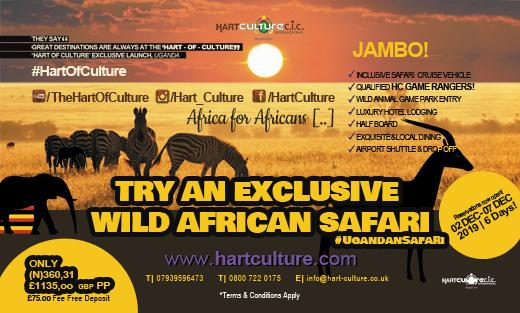 EXCLUSIVE WILD AFRICAN SAFARI   UGANDA 2019 Tickets, Mon