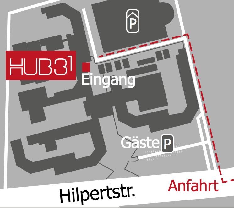 Anfahrtskizze Hub31