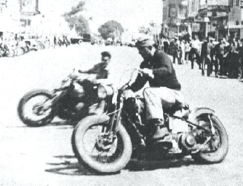 Vintage Hollister motorcycle Rally