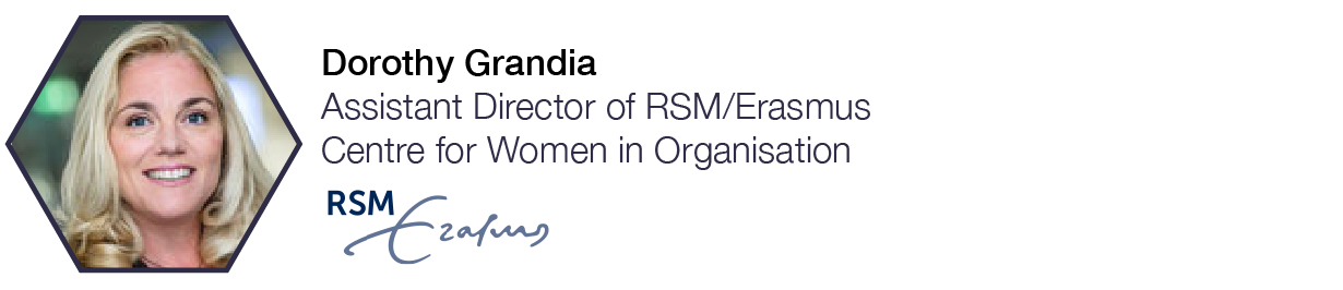 Dorothy Grandia  Assistant Director, RMS/Erasmus Centre for Women in Organisation, INSEAD