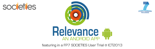 Societies FP7 Relevance App logos