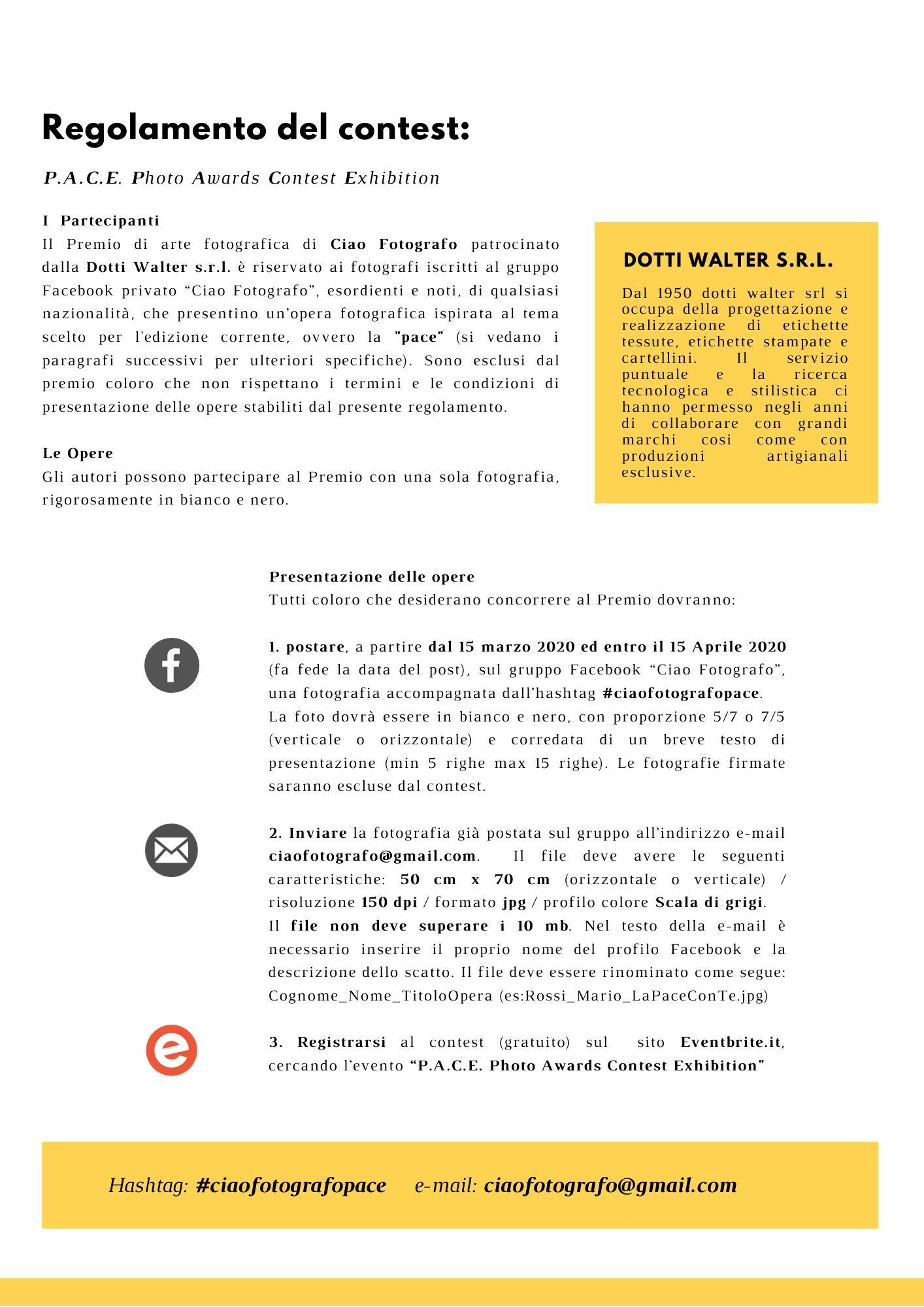 Pace Bianco E Nero p.a.c.e. photo awards contest exhibition biglietti, sab, 19