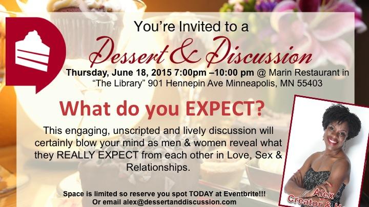 Dessert & Discussion Invite