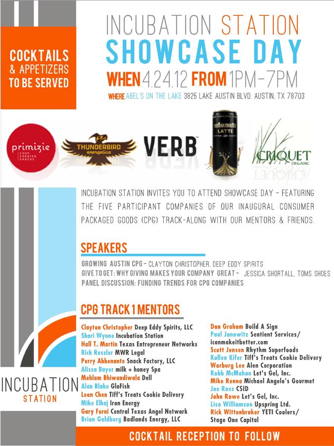 Incubation Station's Showcase Day: RSVP & Agenda