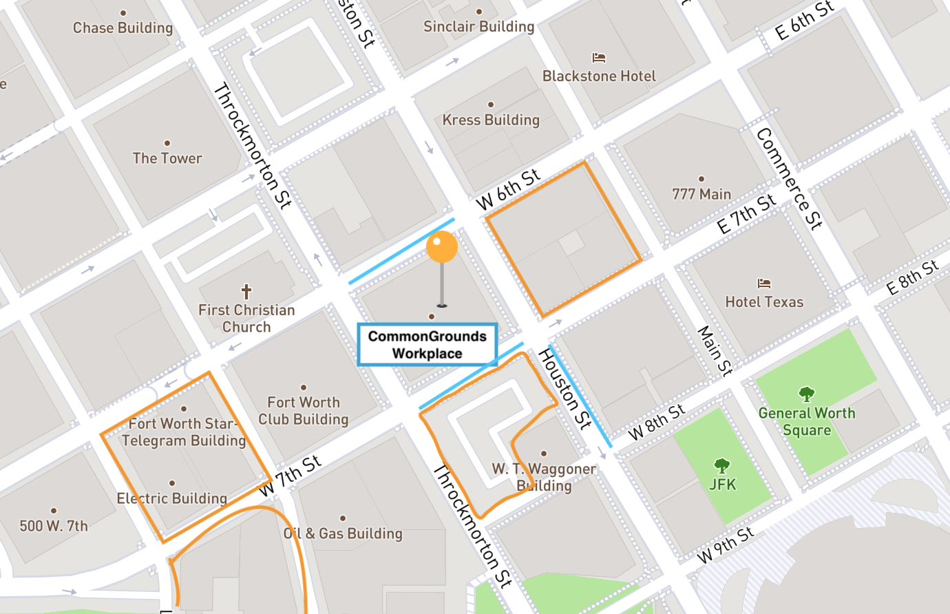 CommonGrounds Workplace Parking Map