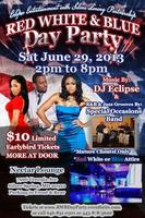 Red White & Blue Day Party(Wear any combination of Red, White,...