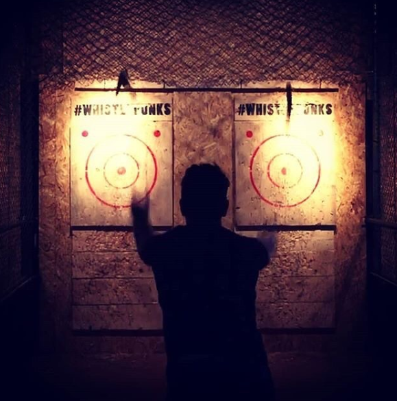 Axe throwing at Whistle Punks with Digital Craftsmen