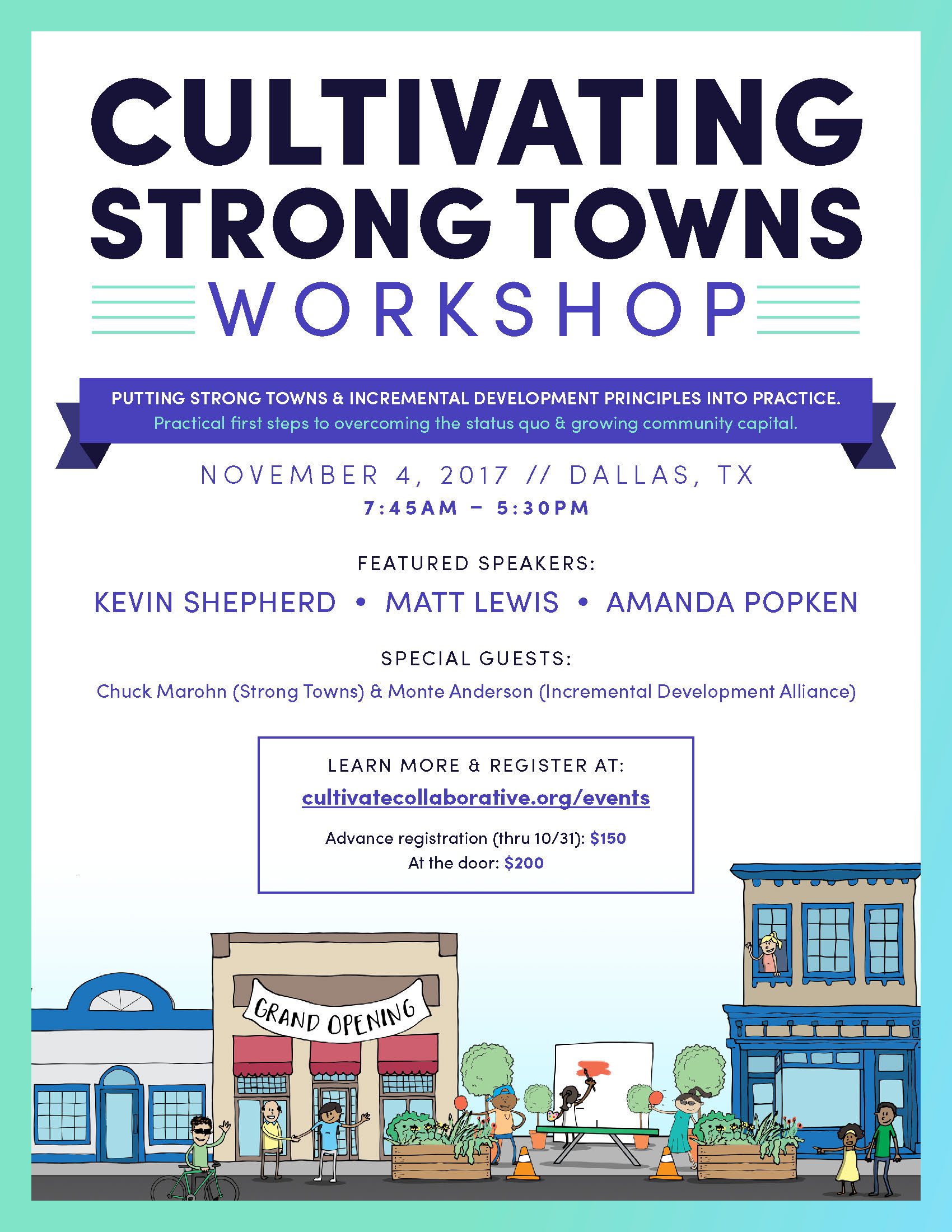 Cultivating Strong Towns Workshop Flyer Pg 1
