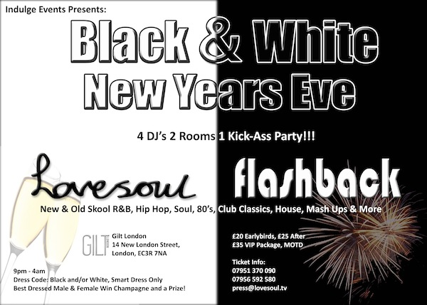 Lovesoul New YEars Eve 2012 Flyer