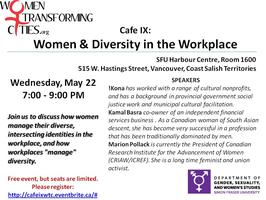 Cafe IX: Women & Diversity in the Workplace