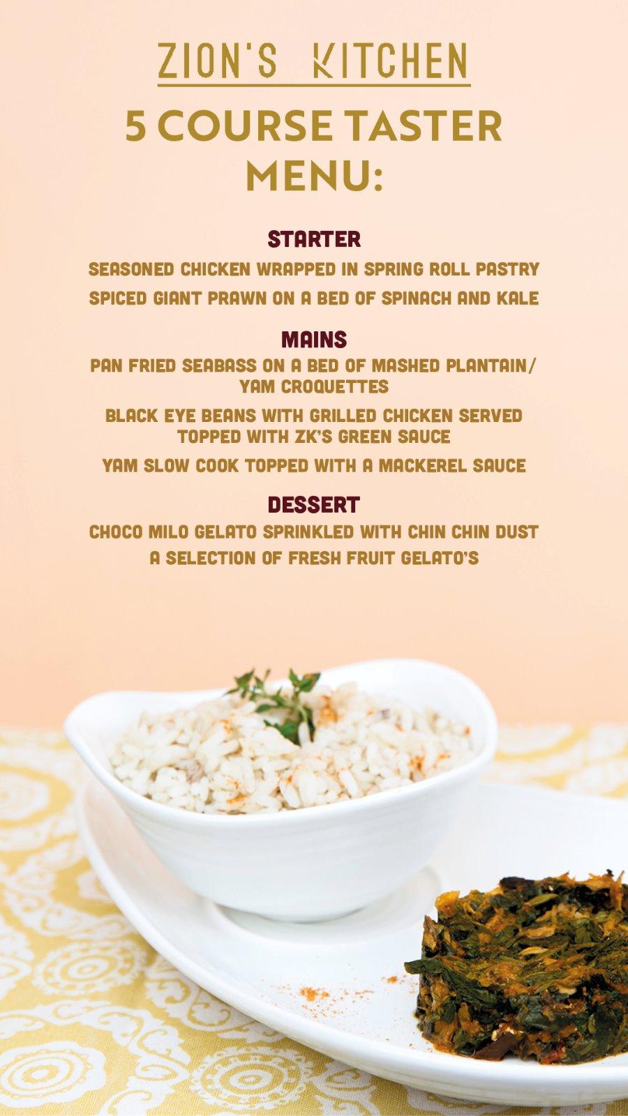 5 course taster menu