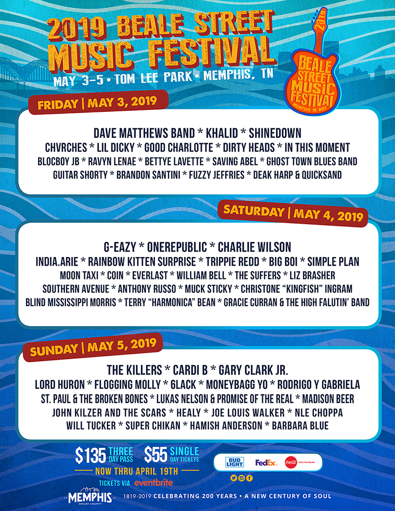 BSMF19 day-by-day lineup