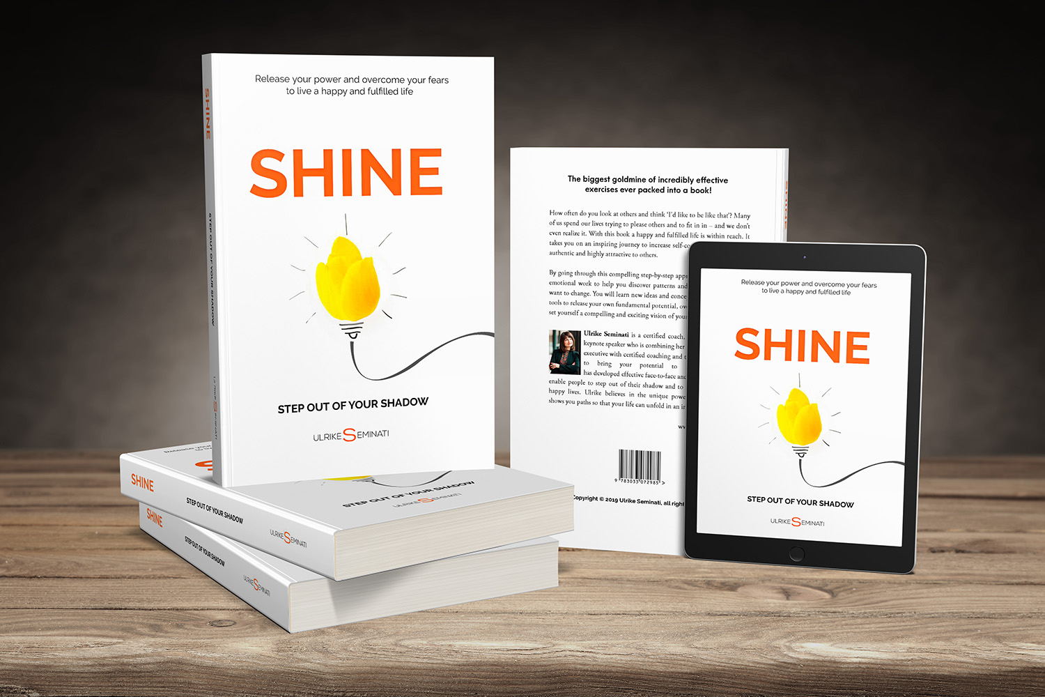 Image of paper back and ebook SHINE