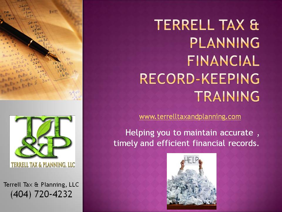 Terrell Tax & Planning Bookkeeping Training