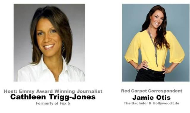 Host Cathleen Trigg and Red Carpet Correspondent Jamie Otis