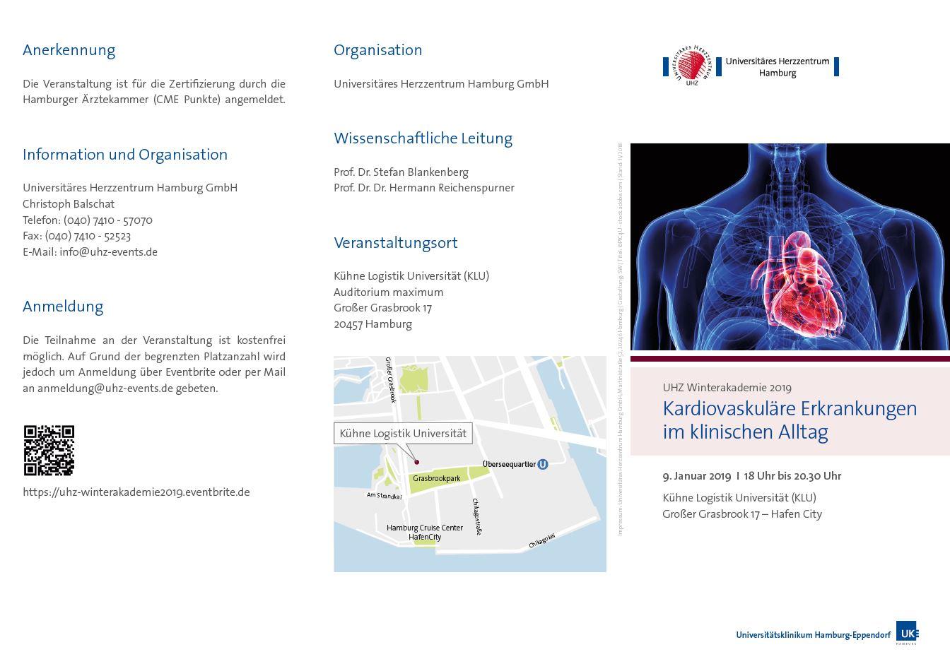 Allgemeine Informationen - Winterakademie 2019