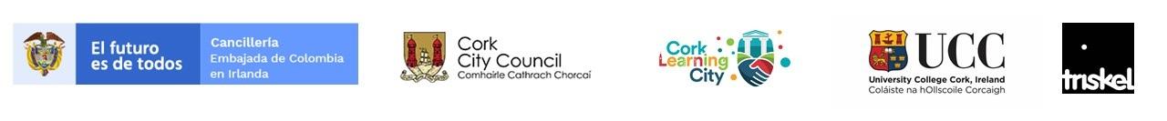Logos Embajada Cork UCC Triskel