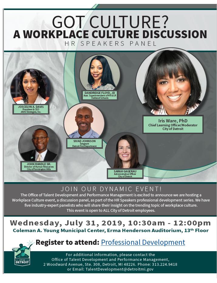 Workplace Culture Panel
