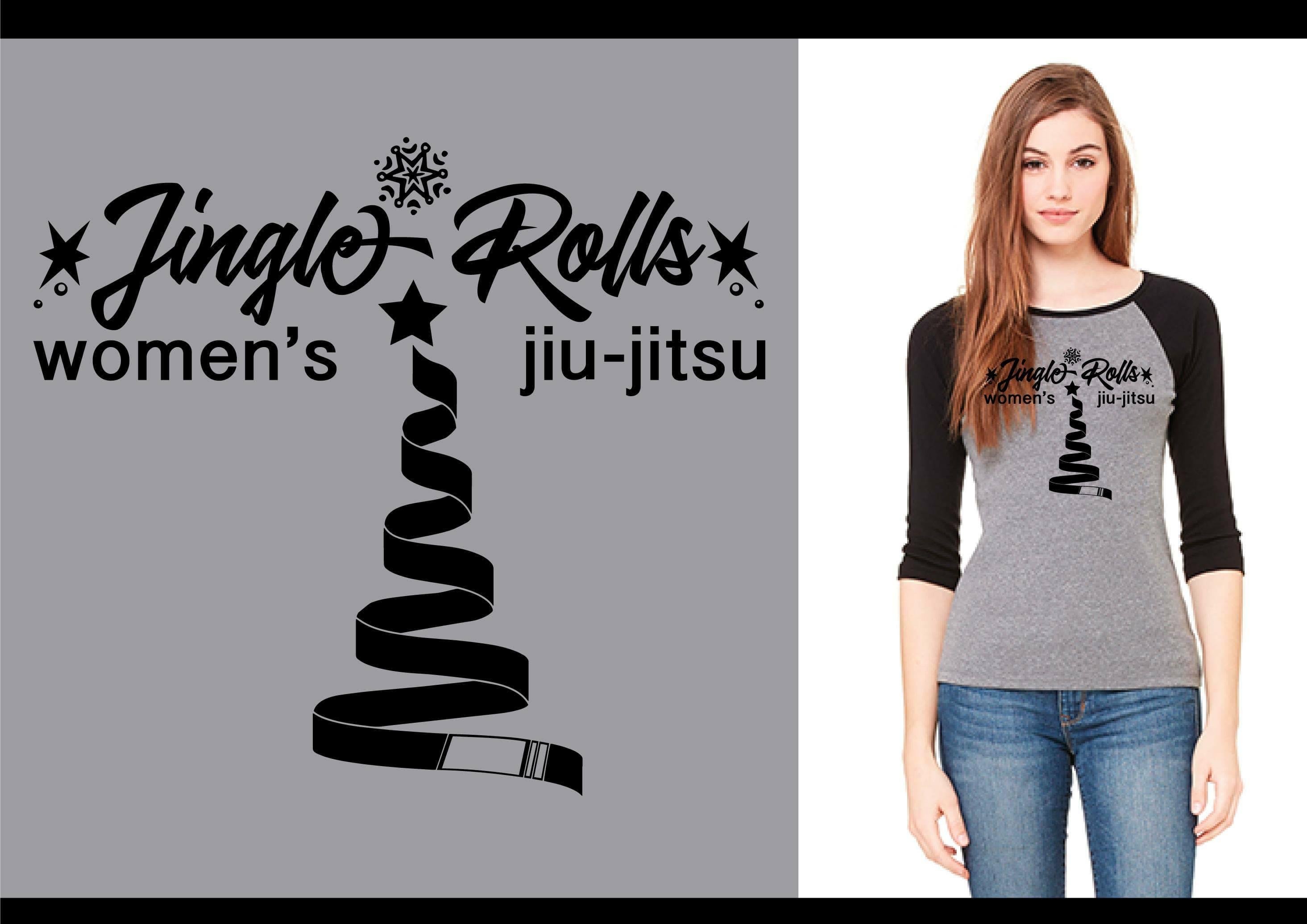 Lets Roll Women's Only Jiujitsu - Jingle Rolls Tee