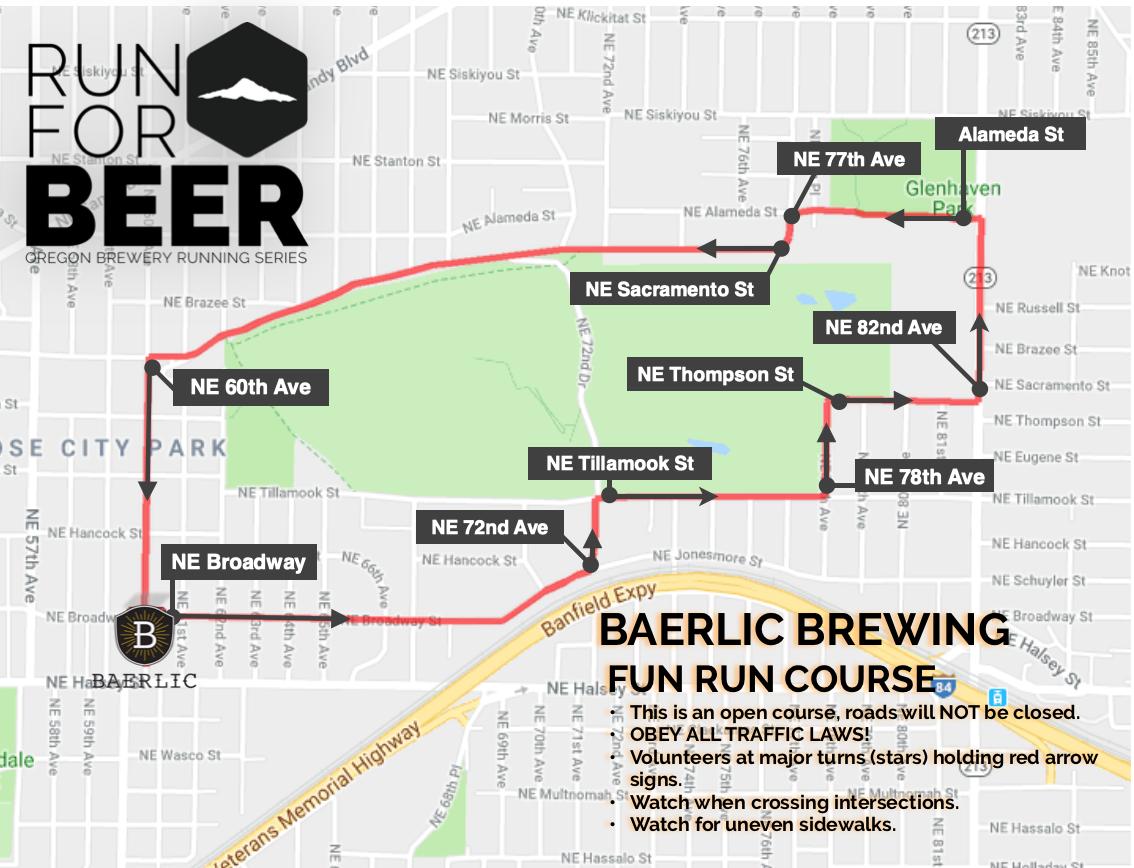 Baerlic Brewing 5K Course