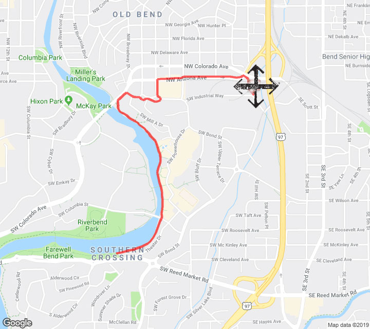 Crux 5K Run Route