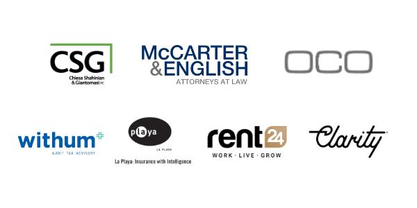 CSG, McCarter & English, OCO, Withum, La Playa, Rent 24, Clarity PR