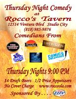 Thursday Night Comedy at Rocco's Tavern
