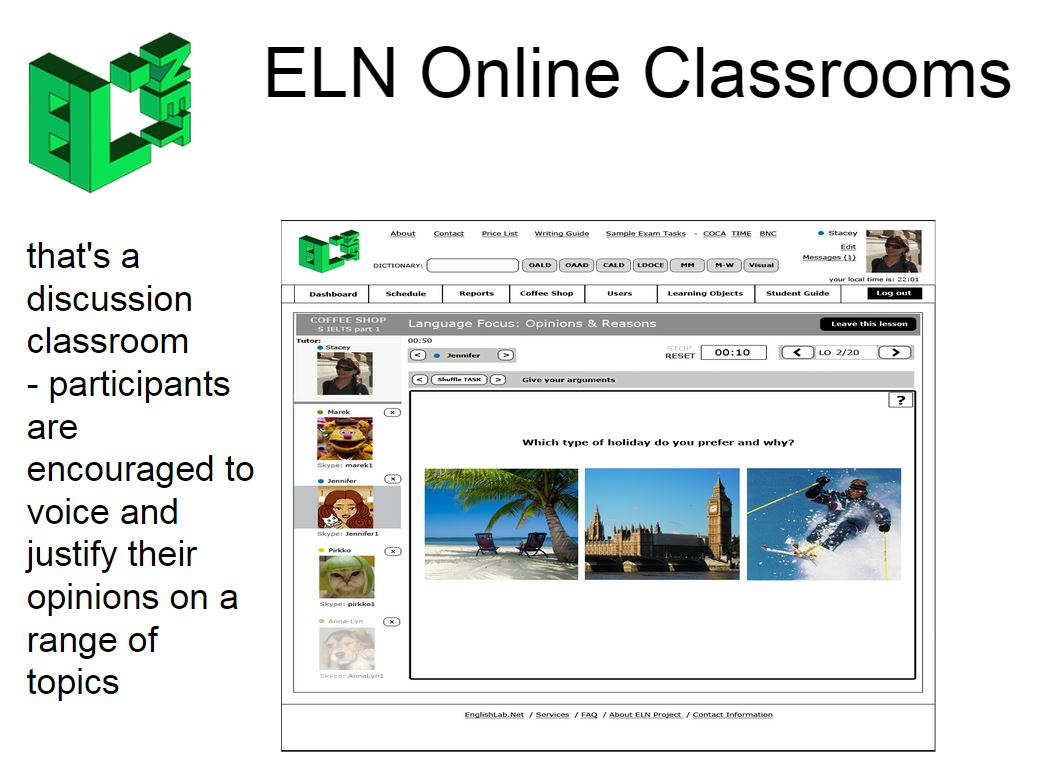 ELN Discussion Classroom