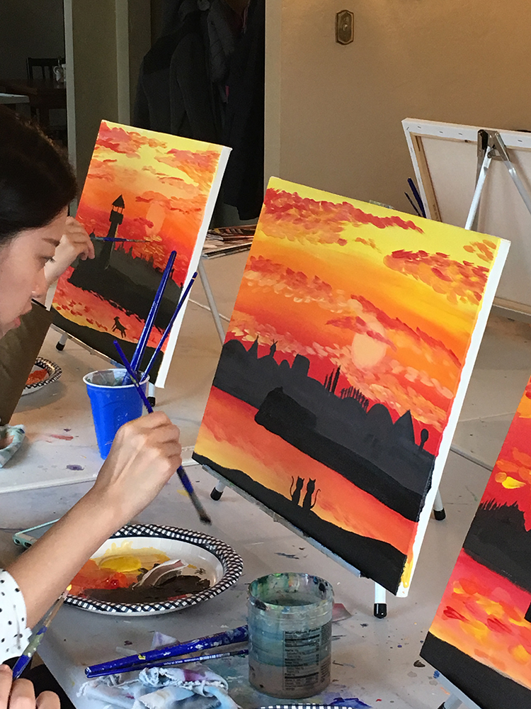 Sunset Paint Night Santa Cruz