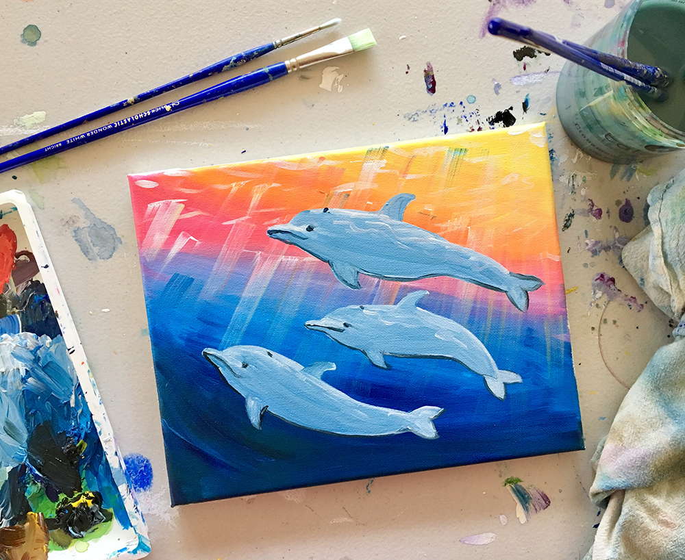 Dolphin Paint Night Santa Cruz