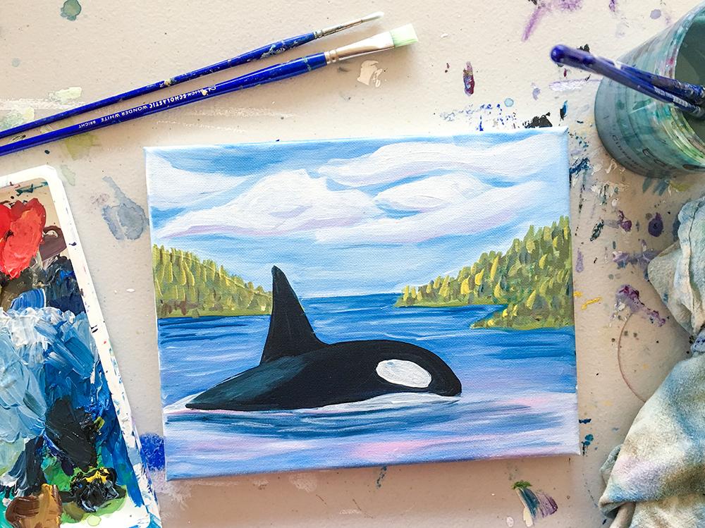 Orca Paint Night Santa Cruz