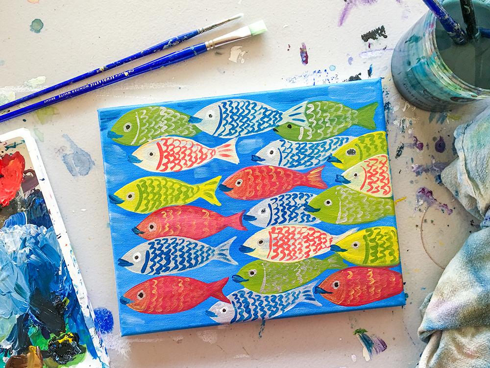 Funky Fish Paint Night Santa Cruz