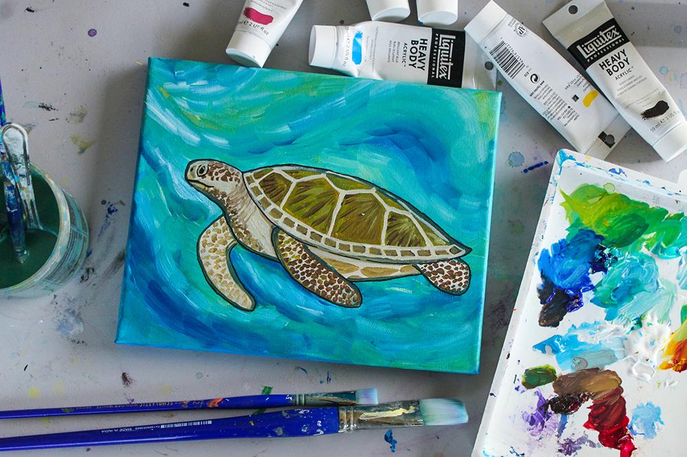 Sea Turtle Paint Night Santa Cruz