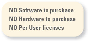 No Software to Purchase