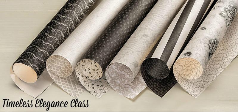 Black & Vanilla Class featuring Timeless Elegance Designer Paper