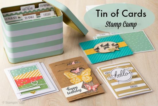Tin of Cards Stampin' Up! Stamp Camp
