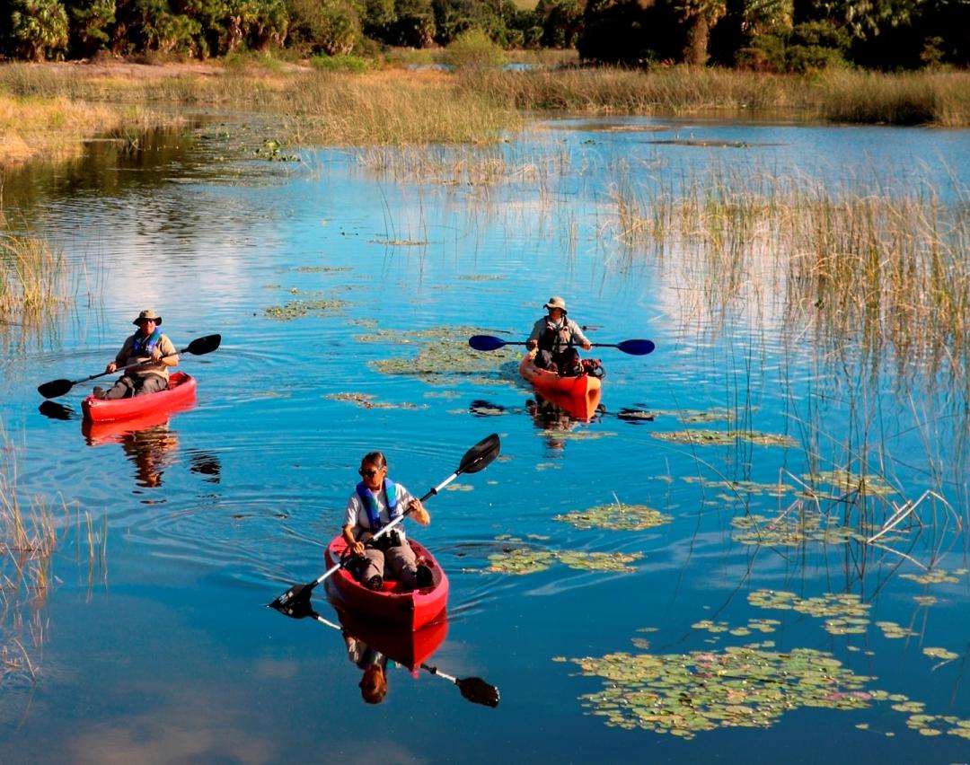 kayaks at Winding Waters
