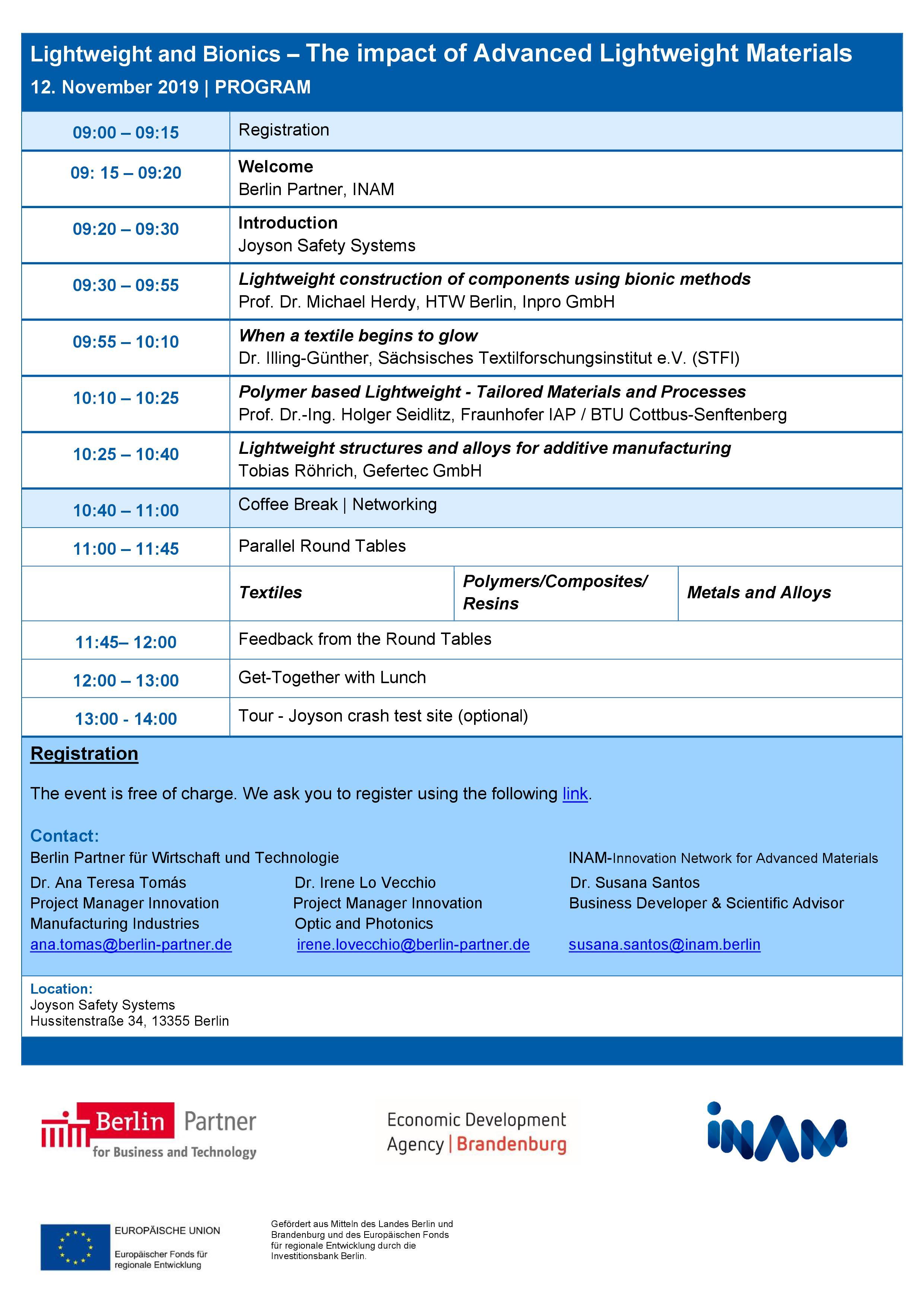 Program 12 November 2019