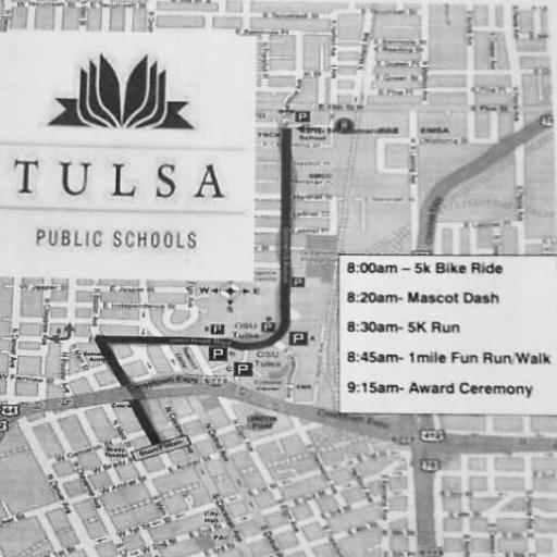 Tulsa School Pride Race Map